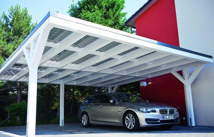 Henke Solartechnik für Schaumburg - SOLARWATT - Solarstrom auf dem Carport
