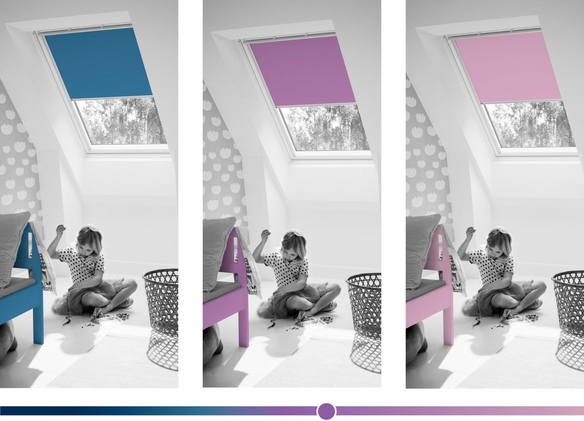 Henke Dachfenster für Nienstädt - VELUX Farben Rollo Kinderzimmer