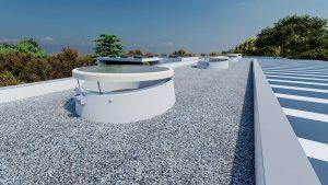 Henke Dachdeckerei | Zimmerei | Solartechnik für Stadthagen - LAMILUX entwickelt geneigten Aufsatzkranz für runde Flachdach Fenster