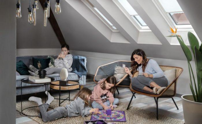 Henke Dachdecker für Stadthagen - VELUX Dachfenster für das Wohnzimmer